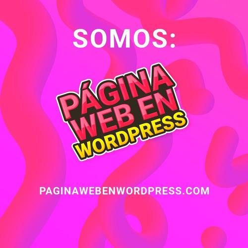 creo y diseño tu página web en wordpress - economica