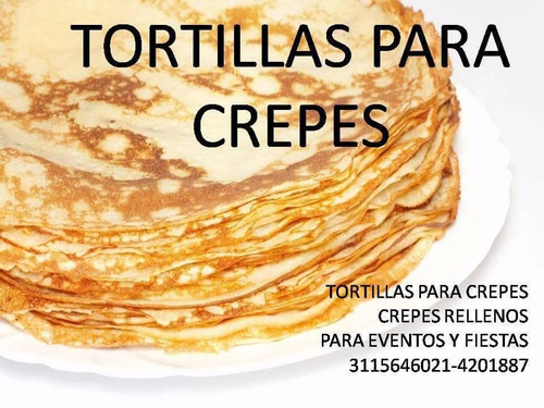 crepes rellenos y tortillas para crepes