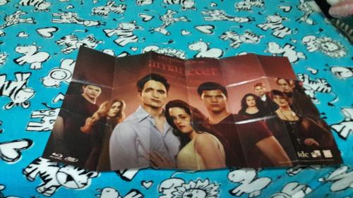 crepúsculo: edición especial bluray 3 blu ray y poster saga