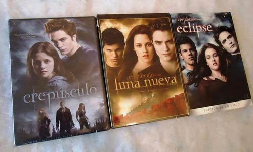 crepusculo paquete con la saga completa en dvd