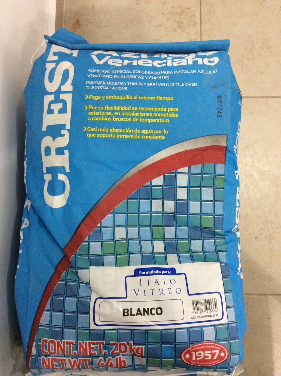 Crest adhesivo para azulejo veneciano y boquilla en mercado libre - Adhesivo para azulejos ...