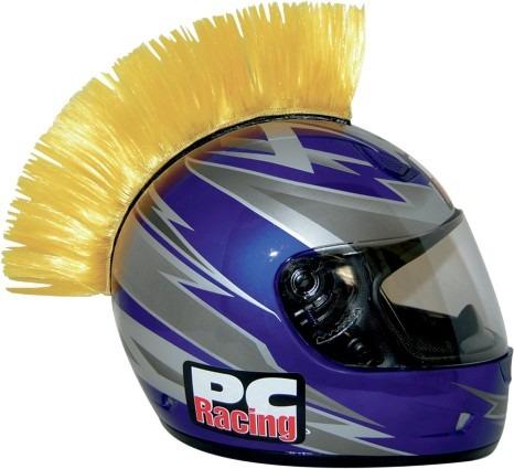 cresta p/casco pc racing amarillo