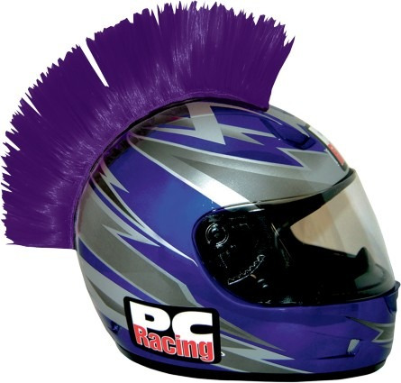cresta p/casco pc racing púrpura
