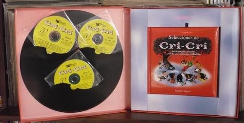 cri cri 3 cd sus 8 mejores cuentos y 45 de sus canciones