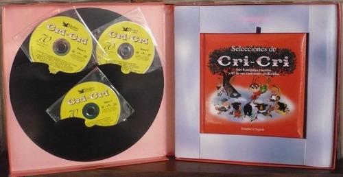 cri  cri  3 cds sus 8 mejores cuentos y 45 canciones bvf