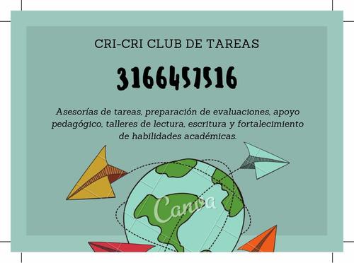 cri-cri club de tareas