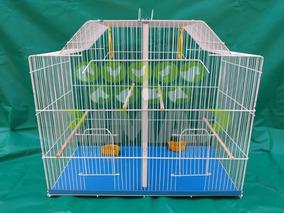 Jaula Para Canarios Periquitos Pájaros Aves Cría Súper