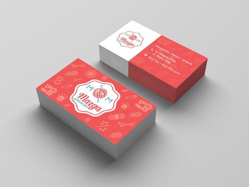 criação da arte para cartão de visita
