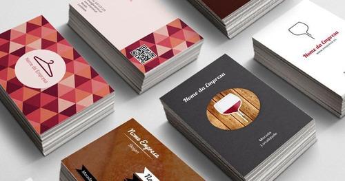 criação de artes para cartão de visita -tamanho 9cm x 5cm