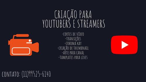 criação de design para streamers e youtubers