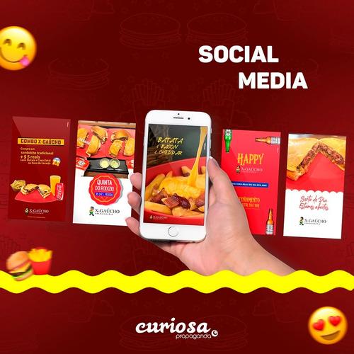 criação de layouts e redação para social media, site e marca
