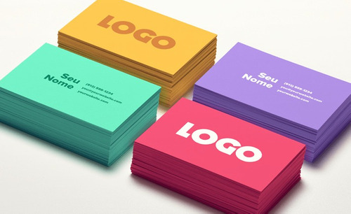 criação de logos e cartões de visitas