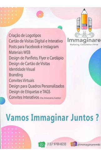 criação de logotipo, cartão de visitas interativo e mais