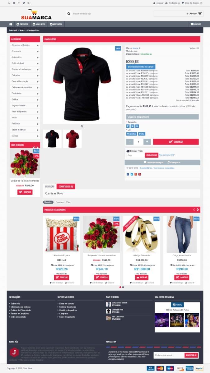 8ac8b2cbb criação de loja virtual para roupas + aplicativo android. Carregando zoom.