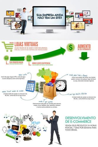 criação de loja virtual personalizada e suporte
