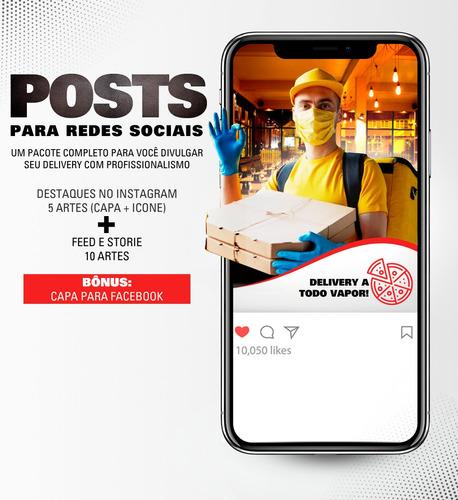 criação de posts para redes sociais.