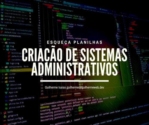 criação de sistemas para gestão empresarial