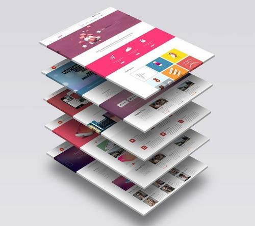 criação de site + hospedagem grátis - layout responsivo