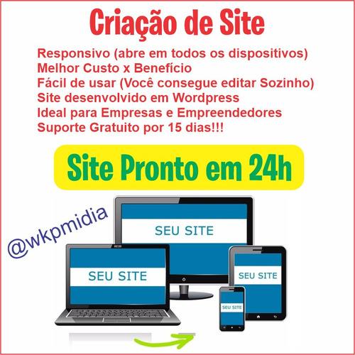 criação de site profissional responsivo em 24 horas