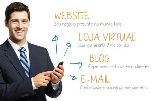 criação de sites profissionais + 25 emails