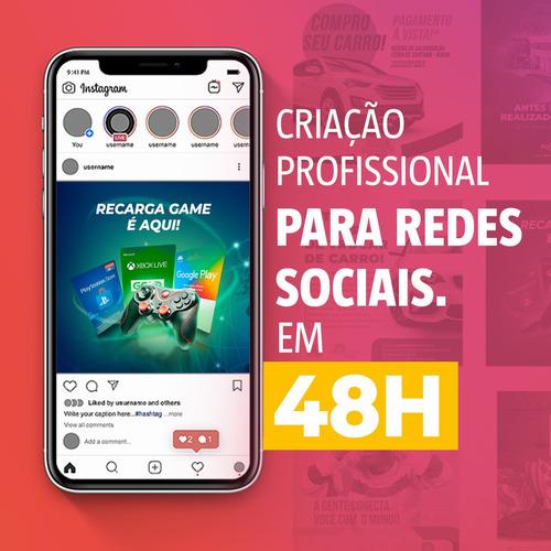criação para redes sociais - card para instagram em 48h