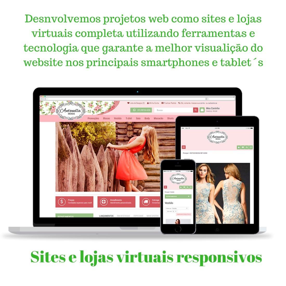 af85fd50ea9862 Criação Sites Html (editáveis) - Lojas Virtuais - Wordpress