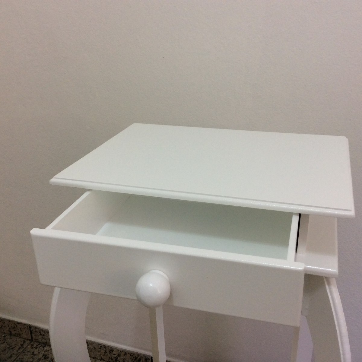Aparador Sofa ~ Criado Mudo Aparador Provençal Mdf 1gaveta branco R$ 179