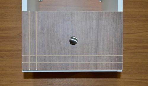 criado mudo cabeceira 100% mdf gaveta telescópica e puxador