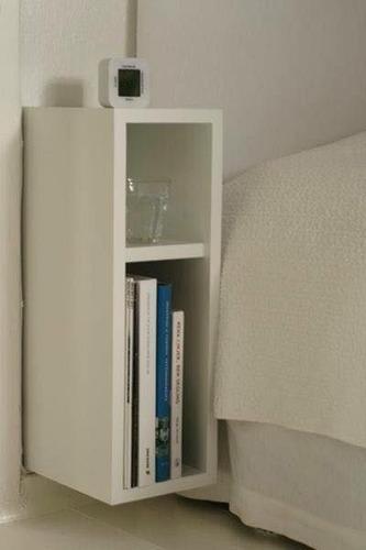 criado mudo compacto 20x20x60cm mdf branco