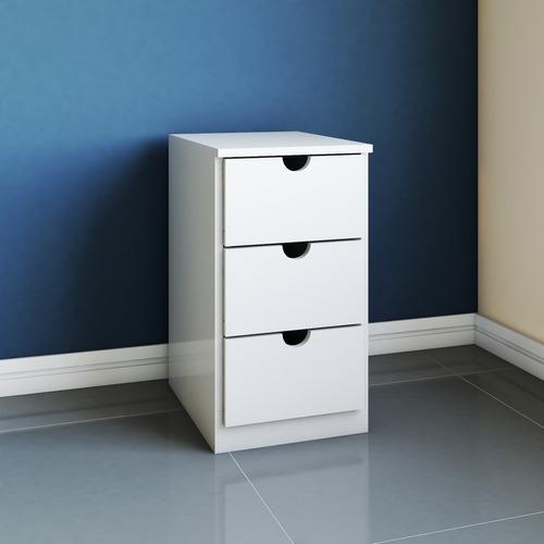 criado mudo, gaveteiro, decoração, escritório branco 3g