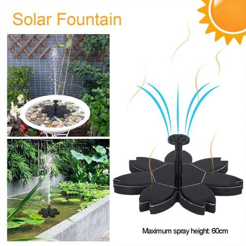 criador projeto flor arco-íris solar alimentado fonte flutu