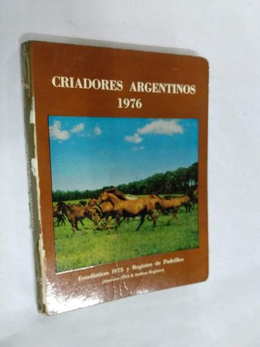 criadores argentinos 1976 - criadores arg. sangre pura