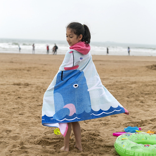 crianças com capuz toalha de praia cobertor de algodão super