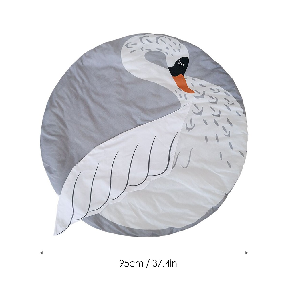 Nursery Rug Swan Shaped Play Mat Tapete