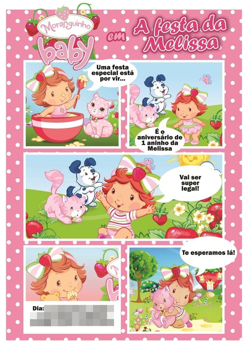 Criar Arte Convite Digital Gibi Moranguinho Baby R 16 00 Em
