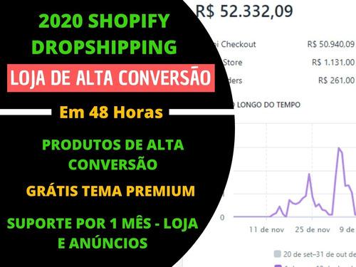 criar loja shopify completa 12x s/juros + super mentoria