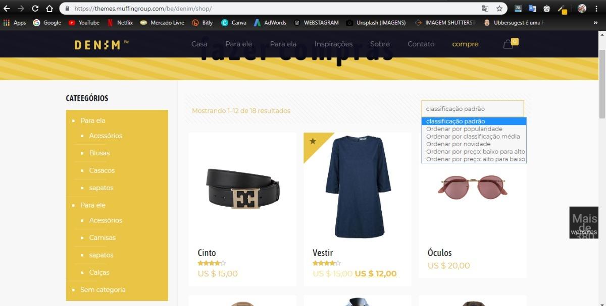 39a81a3e17 criar site de vendas de roupas + hospedagem + brindes. Carregando zoom.