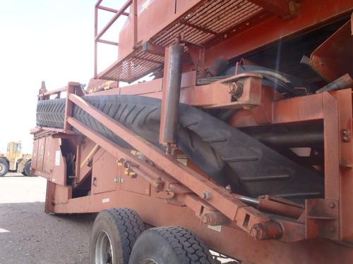 criba remolcable marca extec a diesel grizly de 12x7