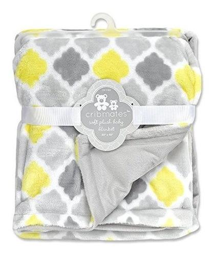 cribmates manta amarillogrisblanco diamante multicoloreado