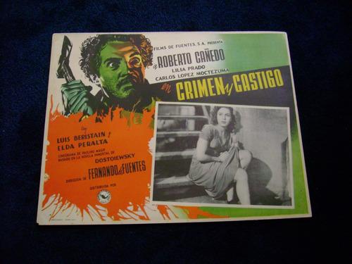 crimen y castigo roberto cañedo cartel poster  12.12.17