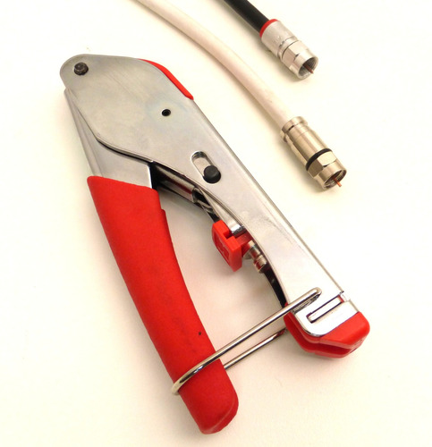 crimpeadora coaxil set c/pelacable alicate y conect. oferta