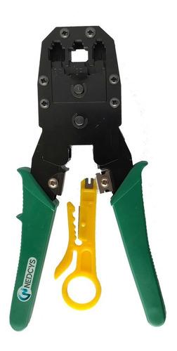 crimpeadora ponchadora red rj-45 rj-9 rj-11 + pela cable