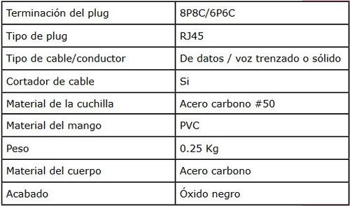 crimpeadora rj45 lanpro 210c mayor y detal garantía 1 año