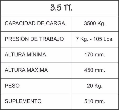 crique 3.5 tn neumático
