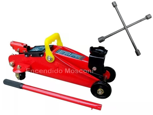 crique carrito hidraulico 2 t + llave cruz
