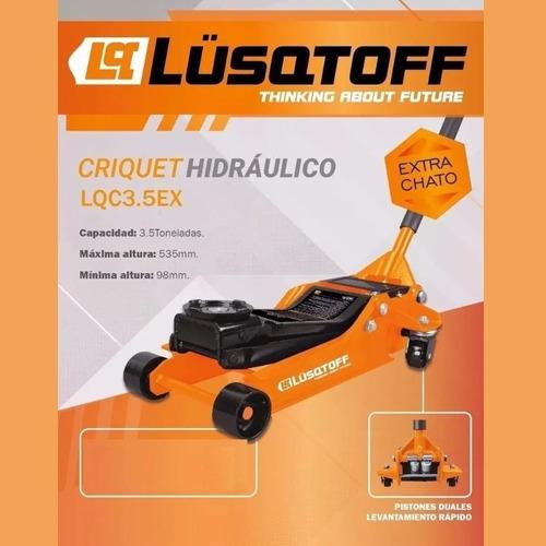 crique hidraulico lusqtoff 3,5 ton perfil extra chato gomero
