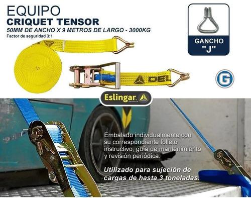 criquet tensor traca traka cinta amarre carga 3tn 50mm x 9mt