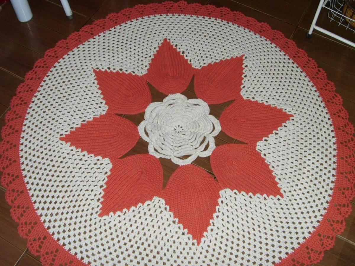 Adesivo De Porta Infantil ~ Cris artesanato Tapete De Flor Em Croche 1,5 M R$ 141,00 em Mercado Livre