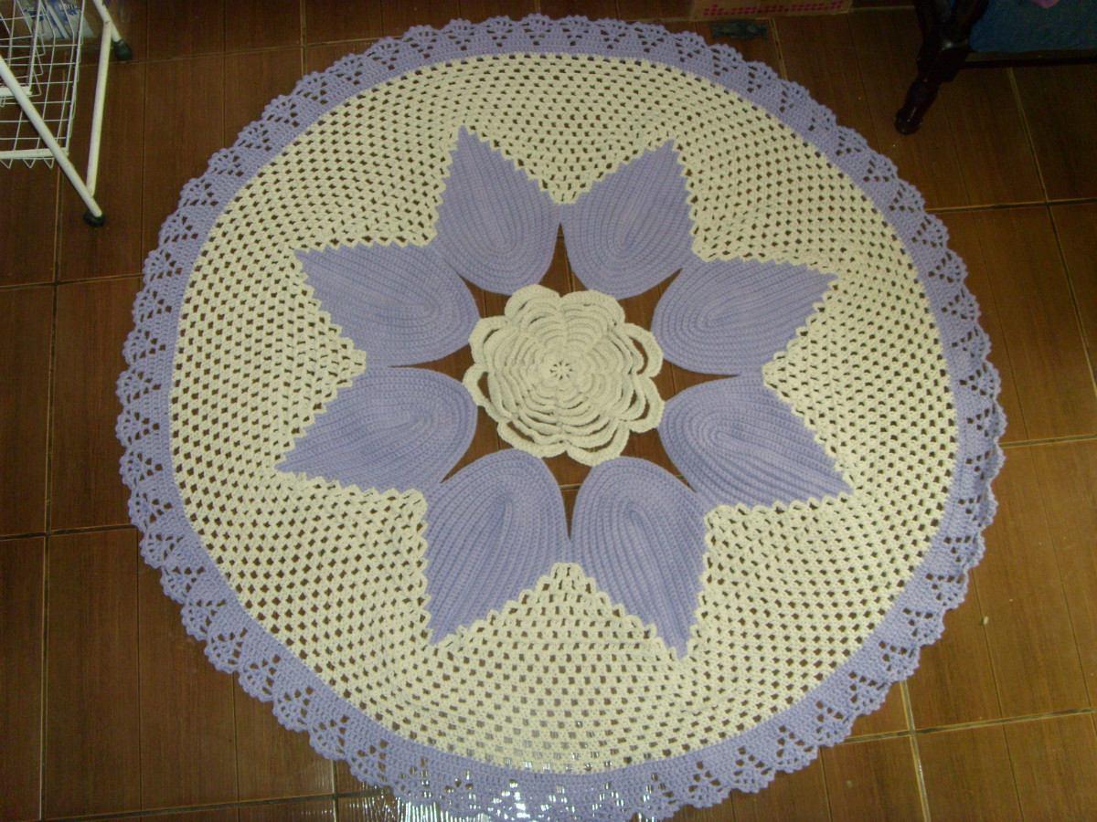Adesivo Olhinhos Fechados ~ Cris artesanato Tapete De Flor Em Croche 1,5 M R$ 141,00 em Mercado Livre