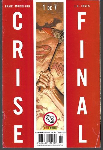 crise final  minissérie/panini - 7 volumes - 2009